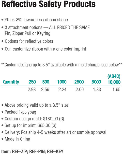Knobby Kraft Line: Custom Plastic Lapel Pins, Awareness Ribbons