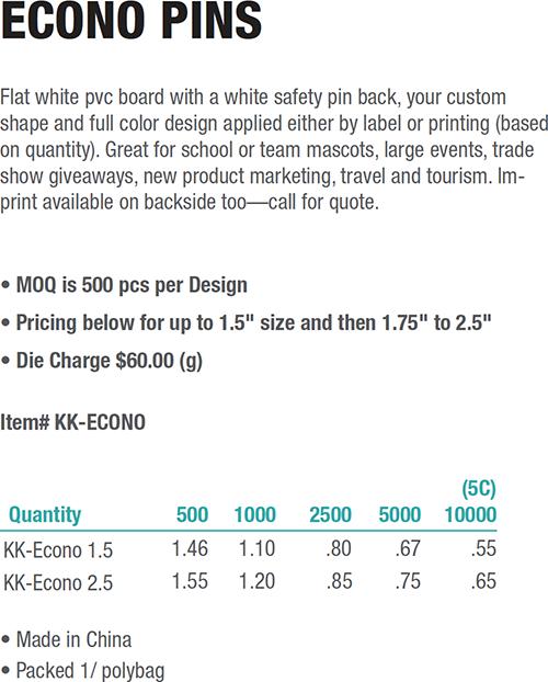 Knobby Kraft Line: Custom Plastic Lapel Pins, Awareness